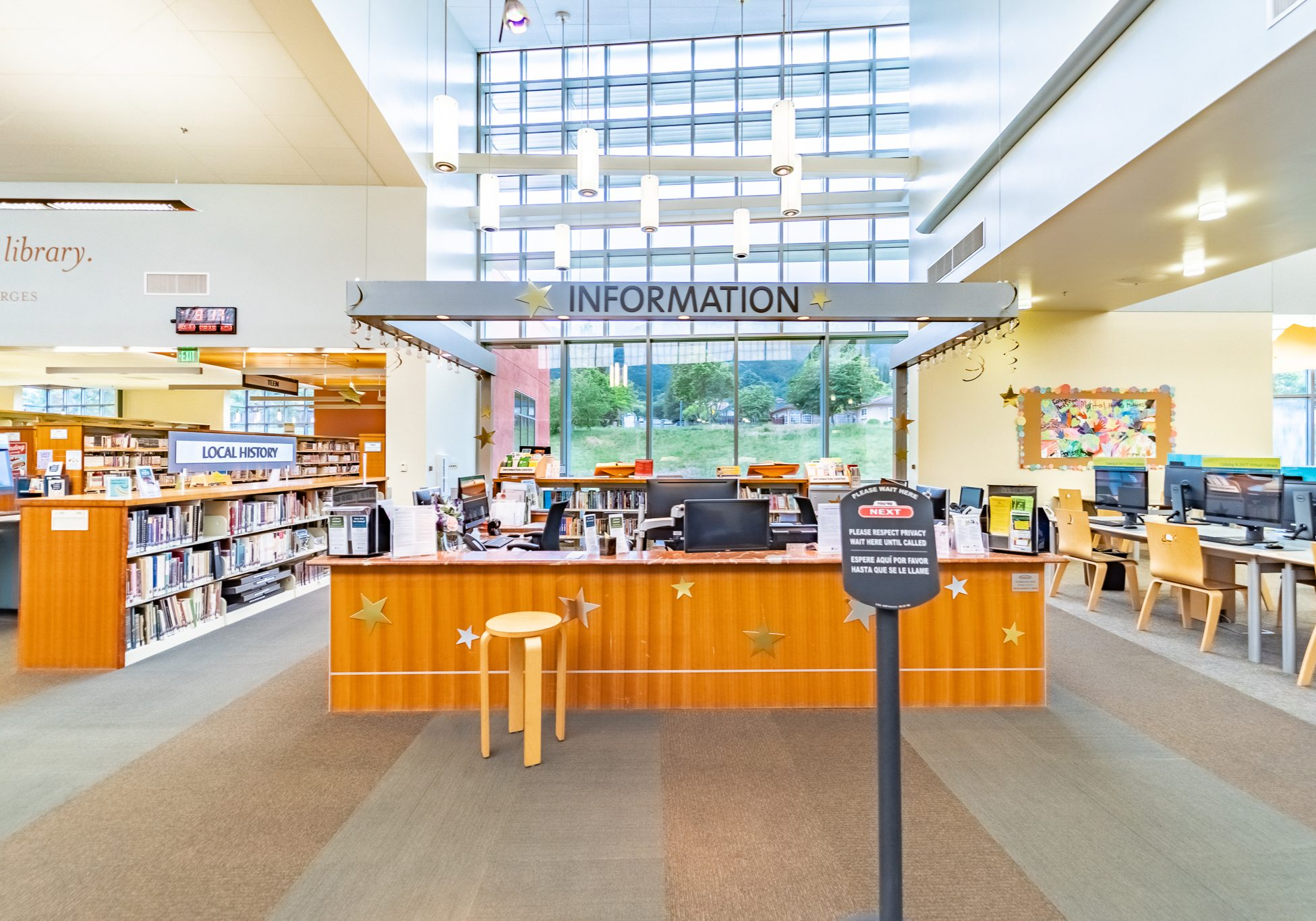 <p>Morgan Hill Library Information Desk, reference</p>